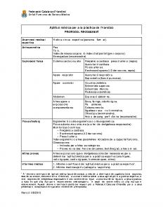 Aptitud mèdica – Protocol recomanat