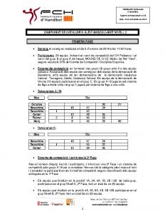 Campionat de Catalunya Aleví Masculí-Mixt – Nivell 2