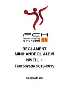 Reglament MiniHandbol Aleví Nivell 1