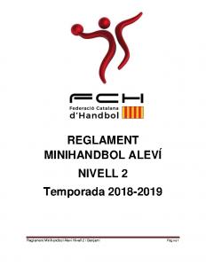 Reglament MiniHandbol Aleví Nivell 2