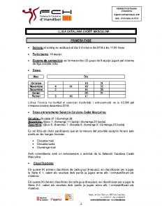 Lliga Catalana Cadet Masculina