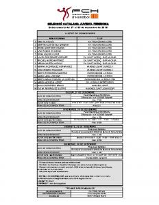 Activitats 27, 28, 29 i 30 de desembre de 2018