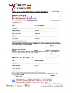 Full inscripció Curs Anotador-Cronometrador Catalunya Central i Barcelona