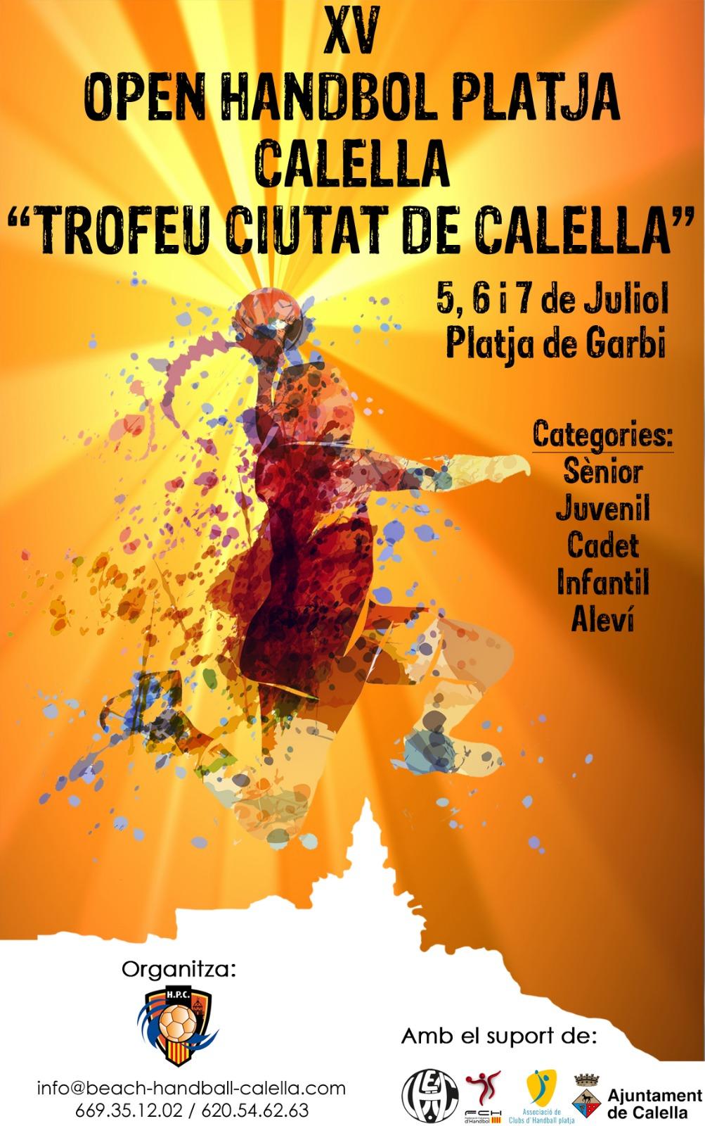 Trofeu Ciutat de Calella 5, 6 i 7 de juliol de 2019