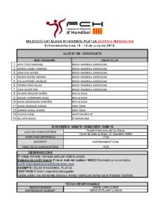 Entrenament 14 i 19 de juny de 2019 a Granollers