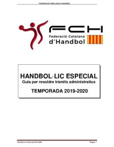 Handbol·lic Eespecial 2019-2020
