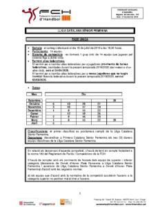 Lliga Catalana Sènior Femenina