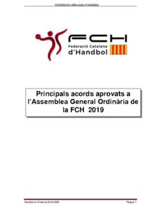 Principals acords aprovats AGO 2019 FCH