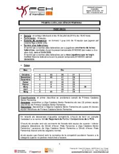 Primera Catalana Sènior Femenina