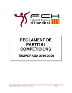 Reglament de Partits i Competicions 2019-2020