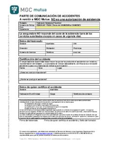 Comunicació d'accident pista 2019-2020