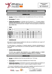 Segona Catalana Juvenil Masculina