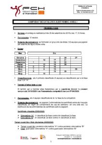 Campionat de Catalunya Aleví Femení, Nivell 1