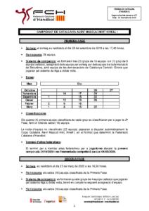 Campionat de Catalunya Aleví Masculí-mixt Nivell 1