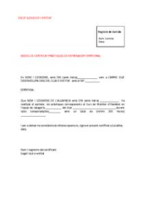 Model Certificat Pràctiques Entrenador Territorial