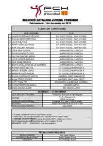 Entrenament 1 de desembre de 2019 a La Garriga