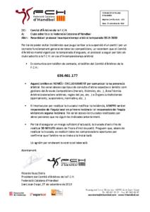 Protocol absència arbitral 2019-2020