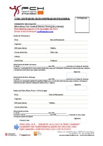 Full inscripció Curs d'Anotador/a i Cronometrador/a a Igualada