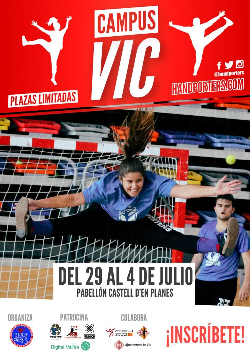 IV edició del Campus Hand Porters a Catalunya – Vic del 29 de juny al 4 de juliol de 2020.