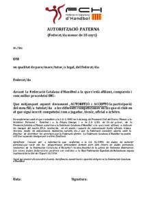 Autorització paterna d'afiliació (programa Toools)