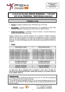 Lliga Catalana Sènior Femenina / 1a Divisió Estatal Femenina
