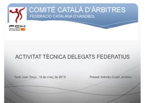 ACTIVITAT TÈCNICA DELEGATS CCA