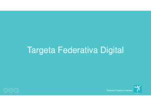Presentacio Targeta Federativa Digita (Android)