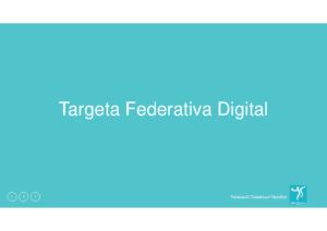 Presentacio Targeta Federativa Digital (IOS)